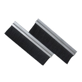Metal channel strip brushes